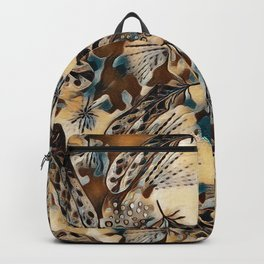 Ethnic pattern with feathers. Backpack