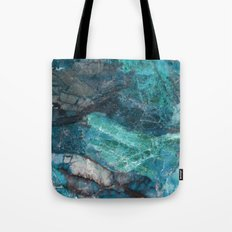 Real Marble - Cerulean Blue Marble Texture Tote Bag