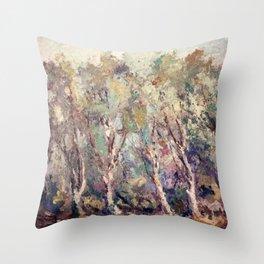 Gloomy Forest Throw Pillow