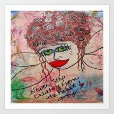 Fairy Art Mother Art Print