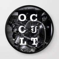 occult Wall Clocks featuring Occult by Mario Zoots