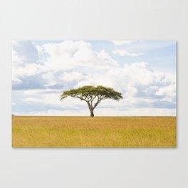 Tree Of Life - Serengeti Plains Africa 5100 Canvas Print