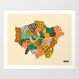 LONDON BOROUGHS Art Print