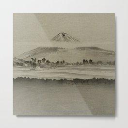 Japanese Woodcut: Mountain Beyond a River Ogata, Gekkō, 1859-1920 Metal Print