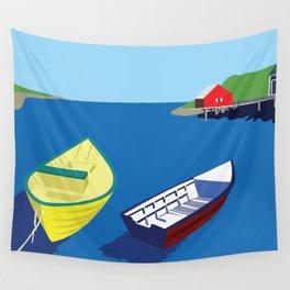 Fishing Village Wall Tapestry