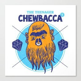 Hipster Chewie Canvas Print