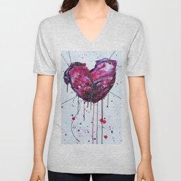 Fused Hearts Unisex V-Neck