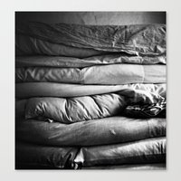 bed Canvas Prints featuring bed by Dasha