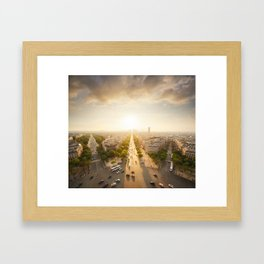 Champs Elysees From the Top Framed Art Print
