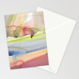 Dusty Pink and Blue Abstract 021 Stationery Cards