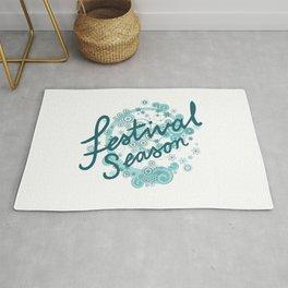 Festival Season Design Teals Rug