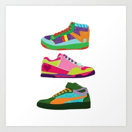 My Kicks Art Print