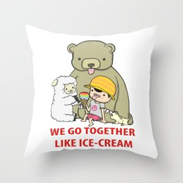 We Go Together Like Ice-Cream Throw Pillow