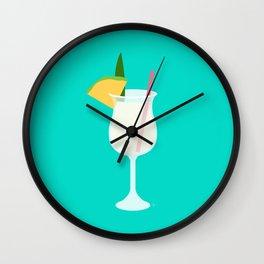 Pina Colada - Pineapple Coconut Rum Wall Clock