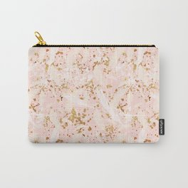 Feather peacock peach gold #6 Carry-All Pouch