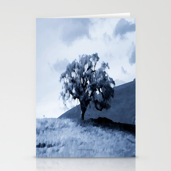Vallecitos Road Oak Tree 005 Stationery Cards