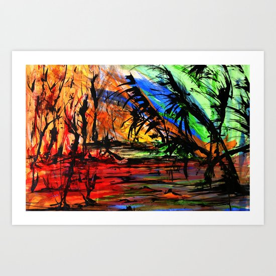 Fire & Flood Art Print
