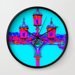 London Lamppost Wall Clock