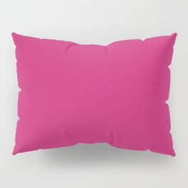Pink Peacock Pantone fashion pure color trend Spring/Summer 2019 Pillow Sham