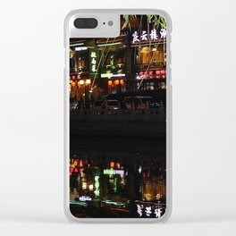 Beijing Reflection 1 Clear iPhone Case