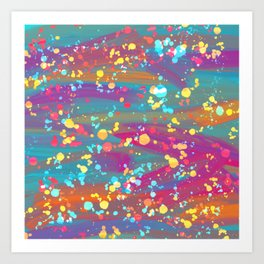 Splatter paint 2 Art Print
