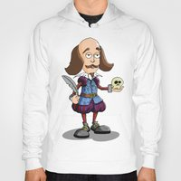 shakespeare Hoodies featuring William Shakespeare by Graziano Ventroni