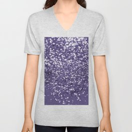Sparkling ULTRA VIOLET Lady Glitter #1 #shiny #decor #art #society6 Unisex V-Neck