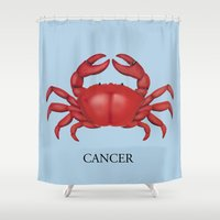 cancer Shower Curtains featuring Cancer by Dano77