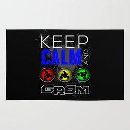 Keep Calm and GROM, Blue Rug