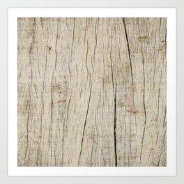 Vintage wood texture Art Print