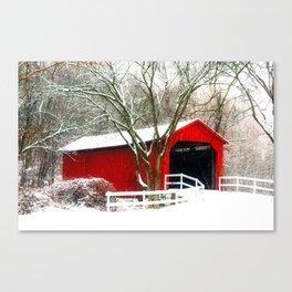 Sandy Creek Cover Bridge Canvas Print