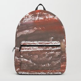Orange Gray vague watercolor Backpack