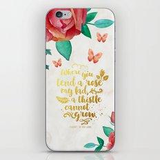 The Secret Garden - Tend a Rose - White iPhone & iPod Skin
