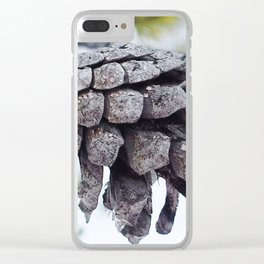 Pine cone in Lapland 2 Clear iPhone Case