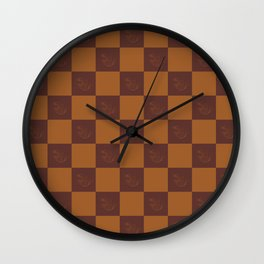 Checkered phoenix Wall Clock
