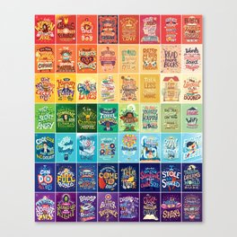 Rainbow of Posters Canvas Print
