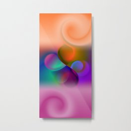 window curtain - colors for your home -3- Metal Print