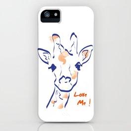 Girafe-Love me iPhone Case