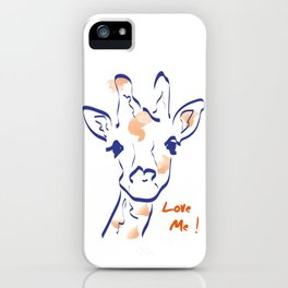Girafe-Love me iPhone Case