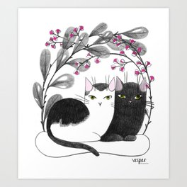 Pretty Kitties Art Print