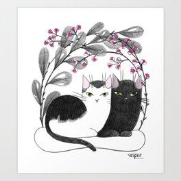 Pretty Kitties Art Print