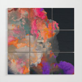 Orage (Colorful clouds in the sky III) Wood Wall Art