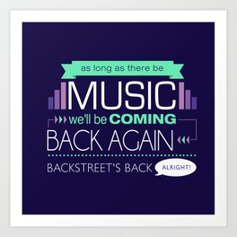 As long as there be music Art Print