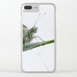 Butterfly dandelion Clear iPhone Case