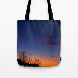 Sunset over the roofs Tote Bag