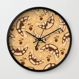 Seamless croissant background Wall Clock