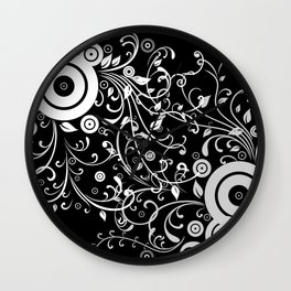 Abstract white and grey background Wall Clock