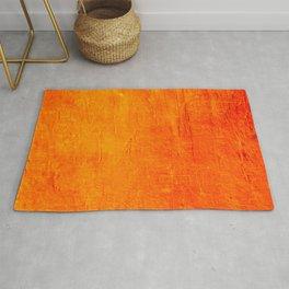 Orange Sunset Textured Acrylic Painting Rug