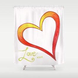 Firery Love Shower Curtain
