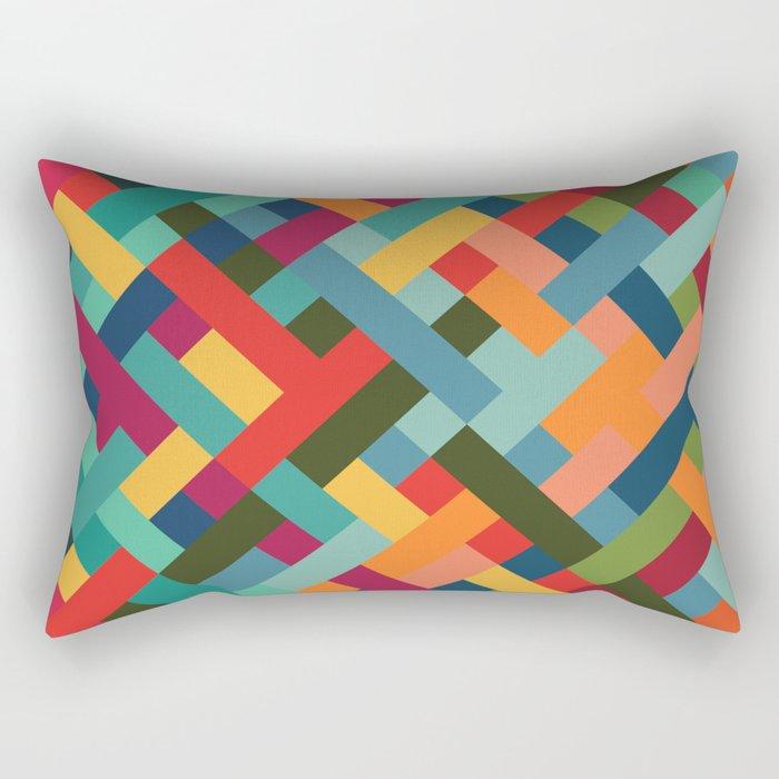 Weave Pattern Rectangular Pillow